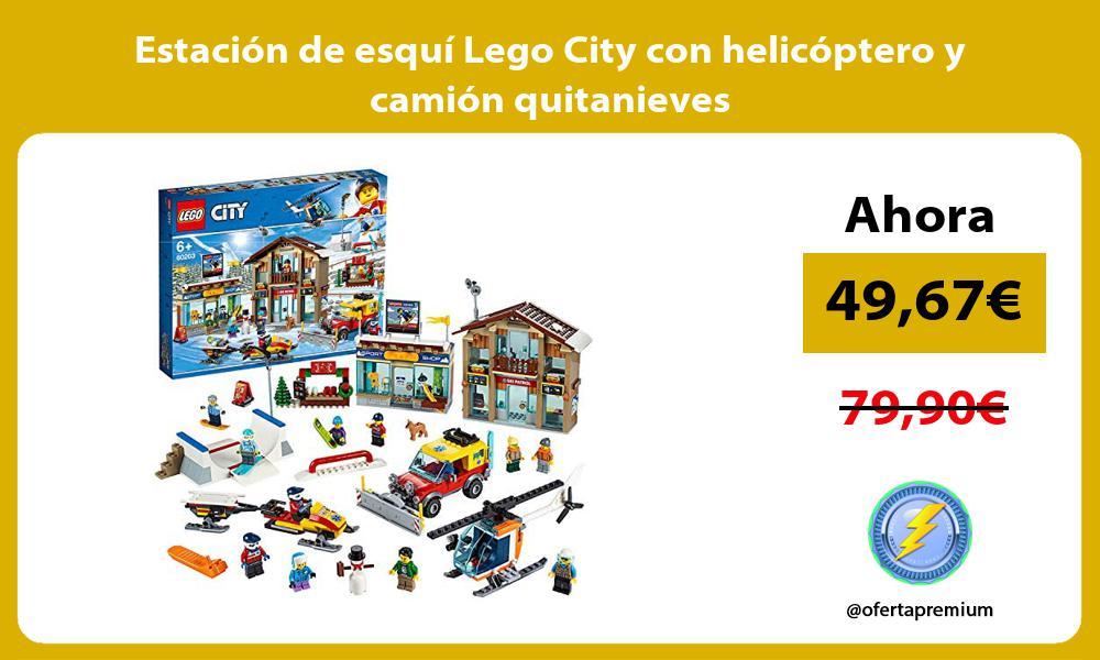 Estación de esquí Lego City con helicóptero y camión quitanieves