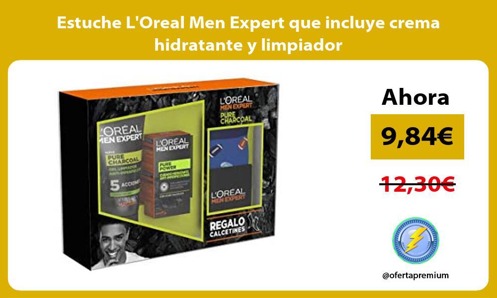 Estuche LOreal Men Expert que incluye crema hidratante y limpiador