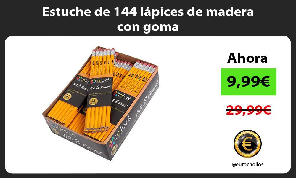 Estuche de 144 lápices de madera con goma