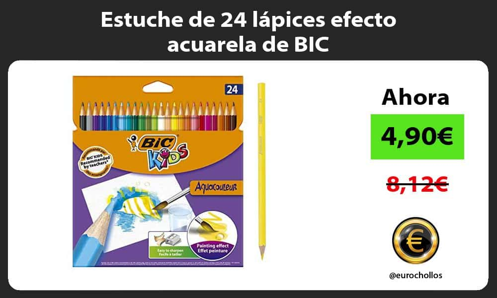 Estuche de 24 lápices efecto acuarela de BIC