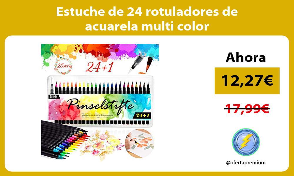 Estuche de 24 rotuladores de acuarela multi color