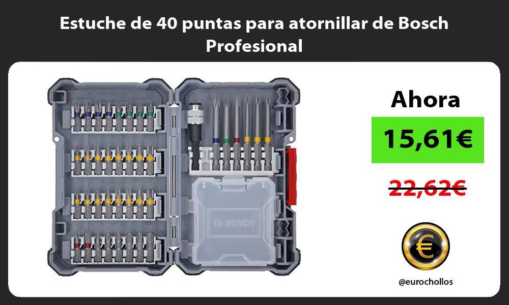 Estuche de 40 puntas para atornillar de Bosch Profesional