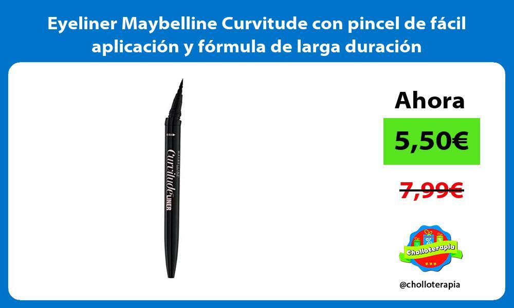 Eyeliner Maybelline Curvitude con pincel de fácil aplicación y fórmula de larga duración