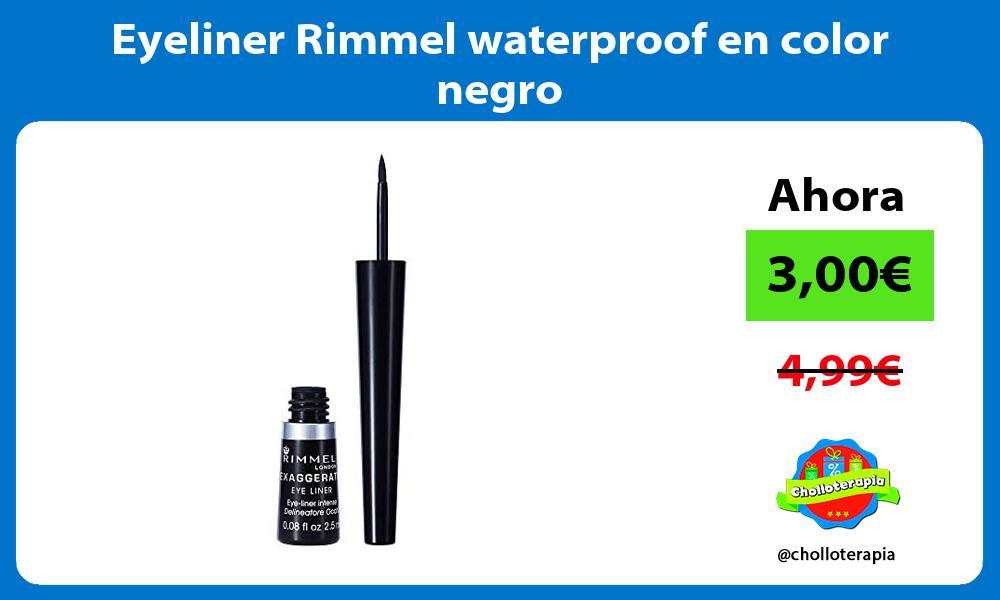 Eyeliner Rimmel waterproof en color negro