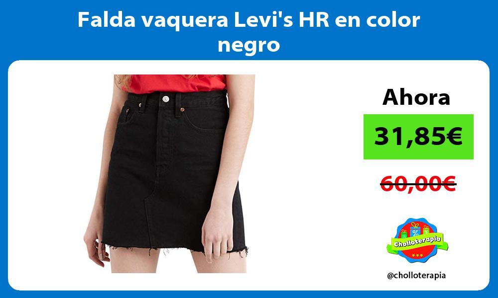 Falda vaquera Levis HR en color negro