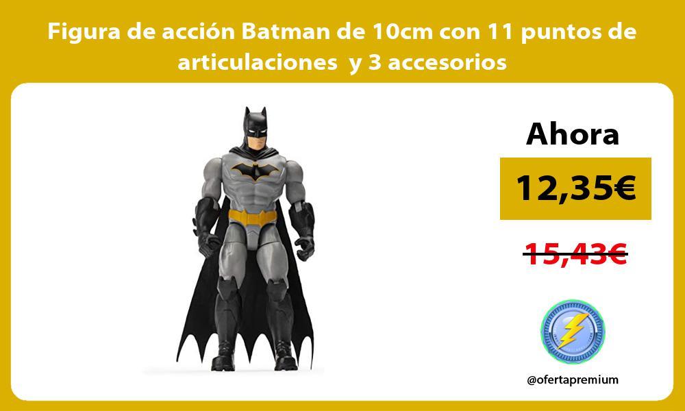 Figura de acción Batman de 10cm con 11 puntos de articulaciones y 3 accesorios