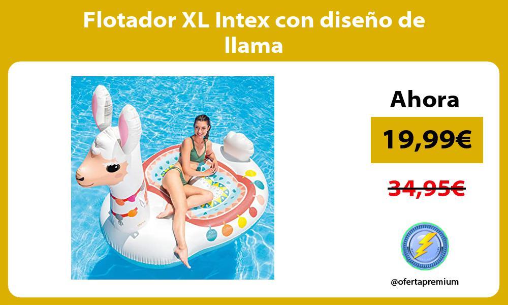 Flotador XL Intex con diseño de llama