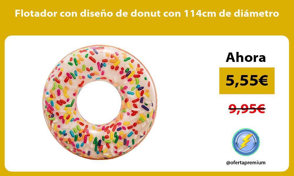 Flotador con diseño de donut con 114cm de diámetro