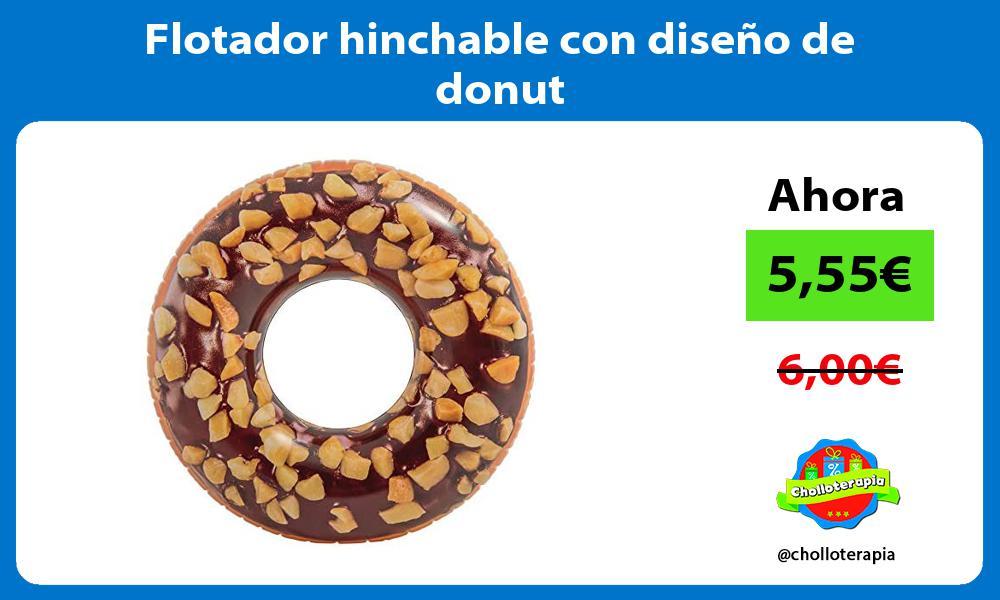 Flotador hinchable con diseño de donut