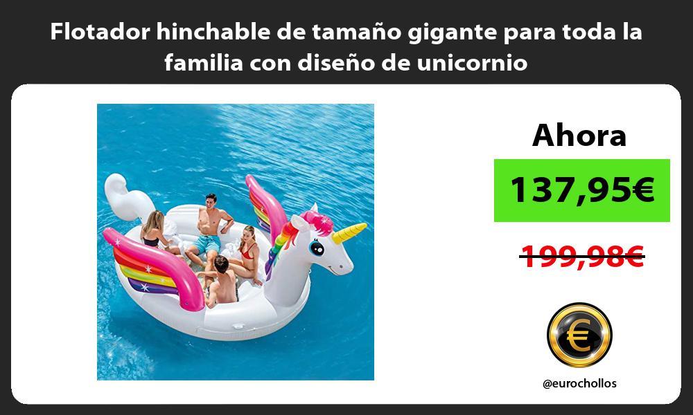 Flotador hinchable de tamaño gigante para toda la familia con diseño de unicornio