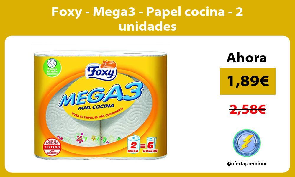 Foxy Mega3 Papel cocina 2 unidades