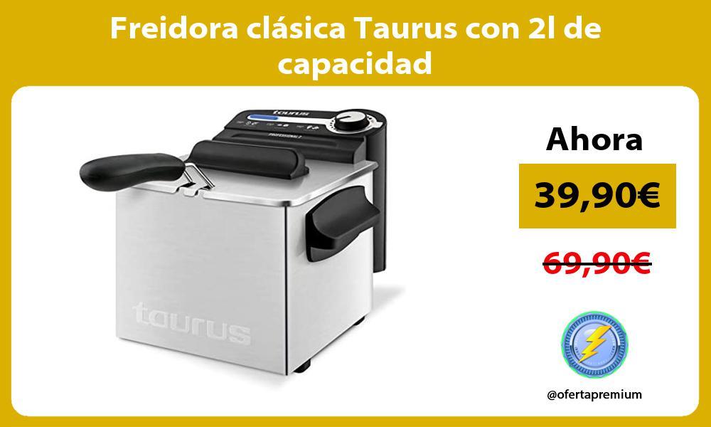 Freidora clásica Taurus con 2l de capacidad