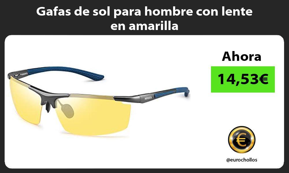 Gafas de sol para hombre con lente en amarilla