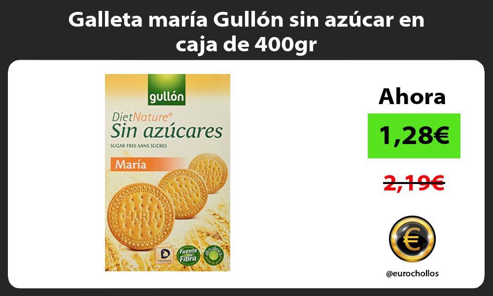 Galleta maría Gullón sin azúcar en caja de 400gr
