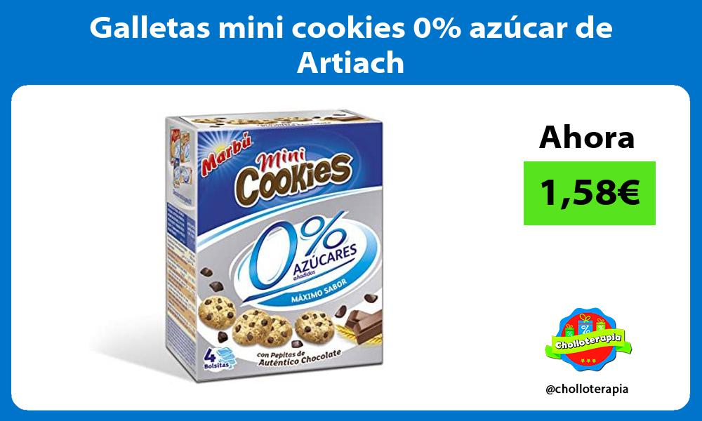 Galletas mini cookies 0 azúcar de Artiach