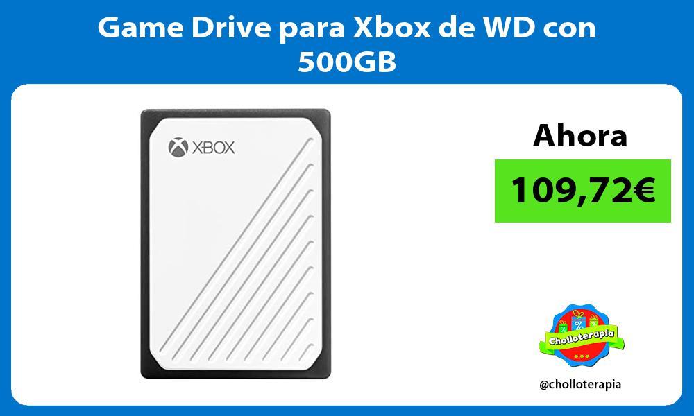 Game Drive para Xbox de WD con 500GB
