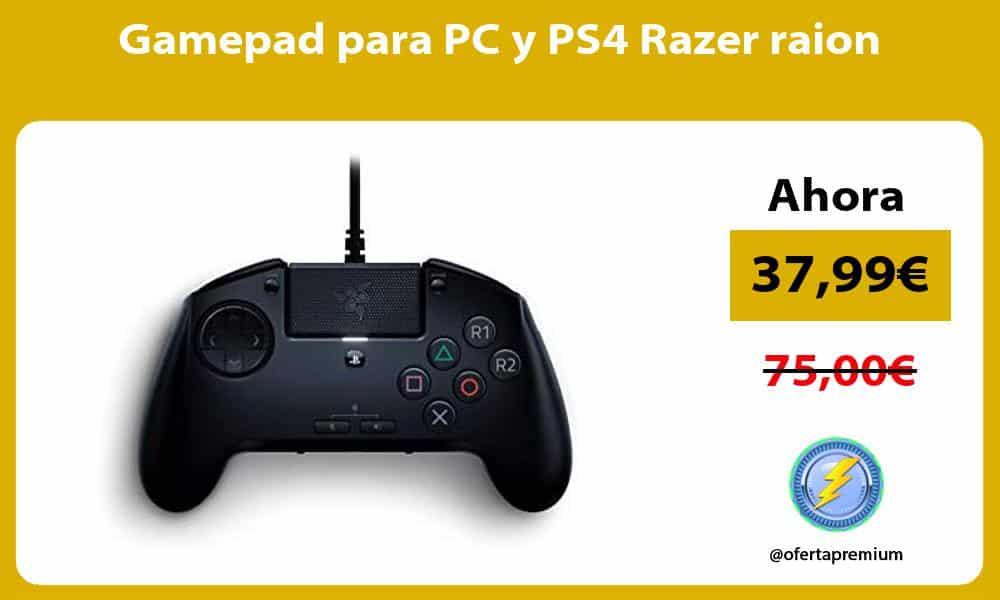 Gamepad para PC y PS4 Razer raion
