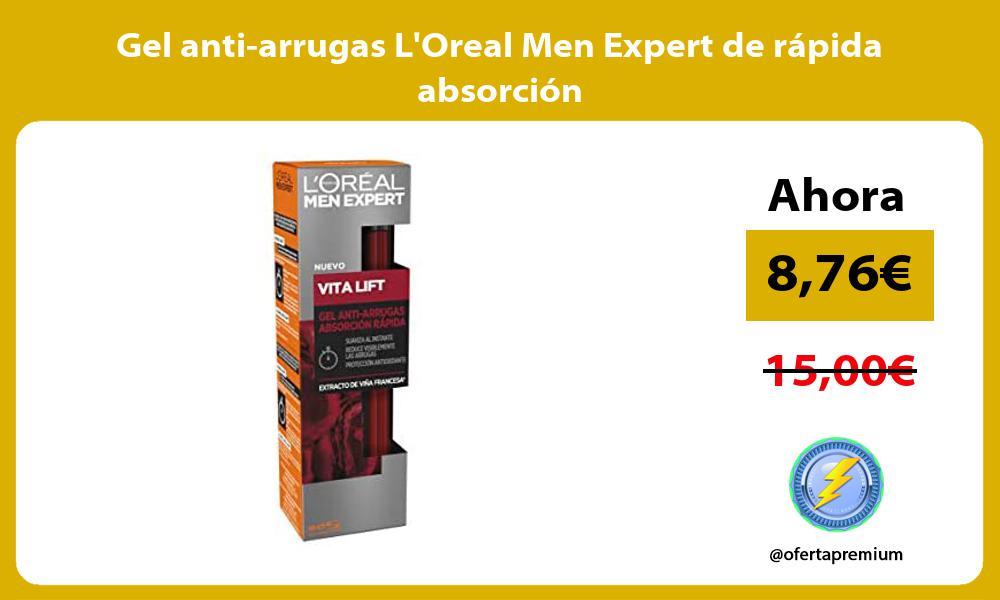 Gel anti arrugas LOreal Men Expert de rápida absorción