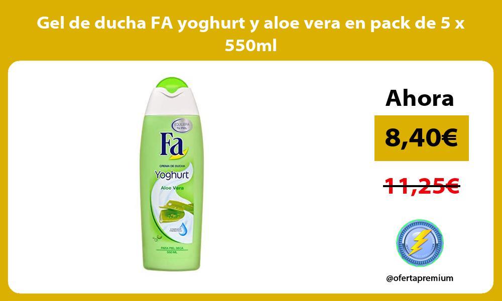 Gel de ducha FA yoghurt y aloe vera en pack de 5 x 550ml