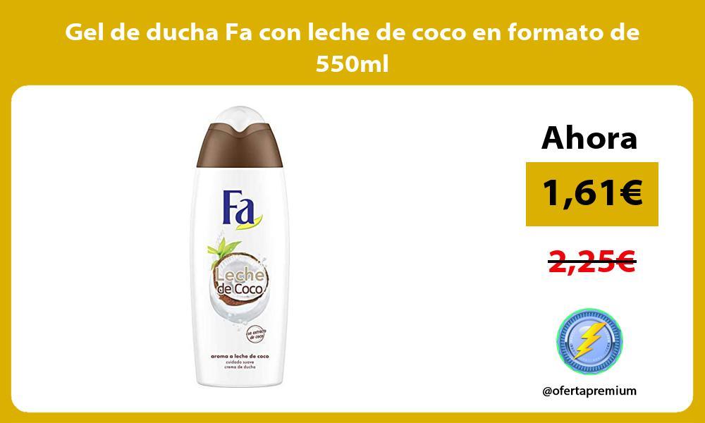 Gel de ducha Fa con leche de coco en formato de 550ml