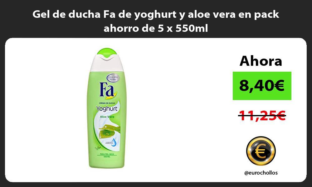 Gel de ducha Fa de yoghurt y aloe vera en pack ahorro de 5 x 550ml