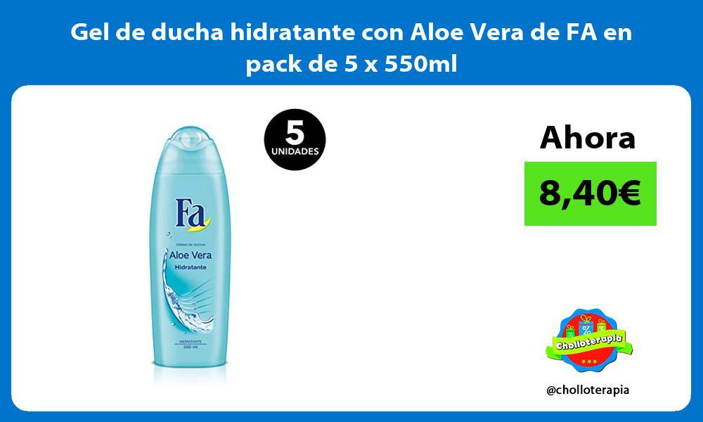 Gel de ducha hidratante con Aloe Vera de FA en pack de 5 x 550ml