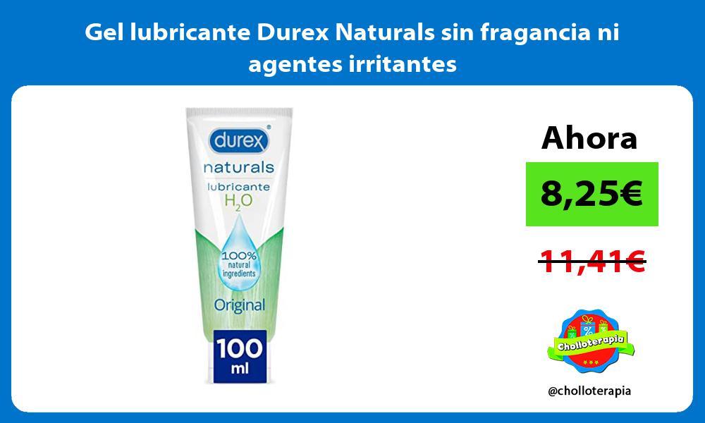 Gel lubricante Durex Naturals sin fragancia ni agentes irritantes
