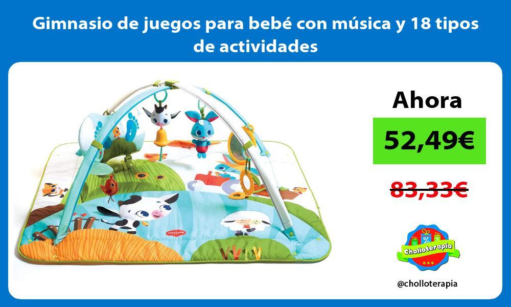 Gimnasio de juegos para bebé con música y 18 tipos de actividades