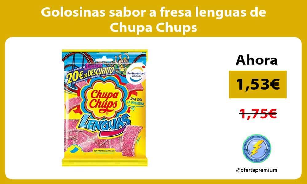 Golosinas sabor a fresa lenguas de Chupa Chups