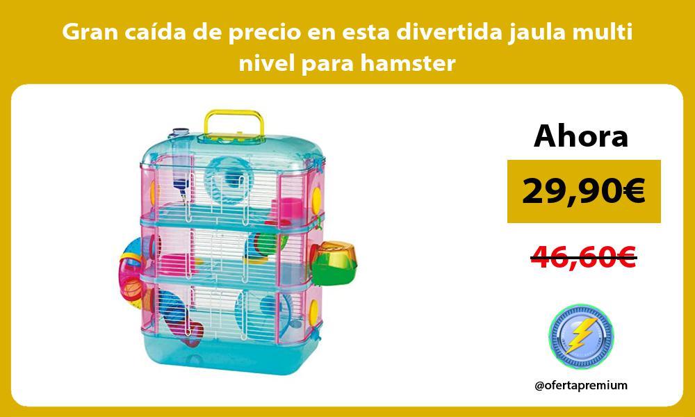 Gran caída de precio en esta divertida jaula multi nivel para hamster