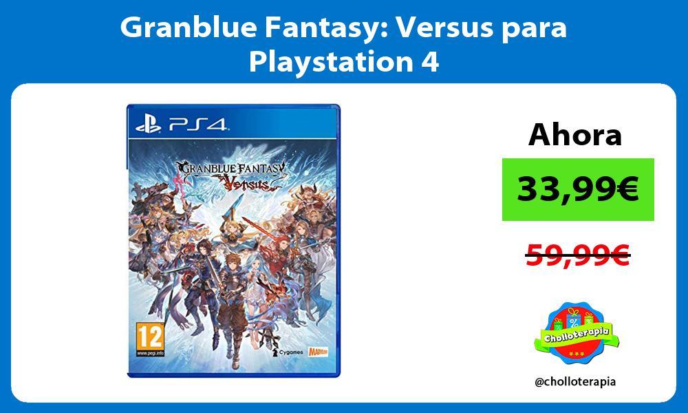 Granblue Fantasy Versus para Playstation 4