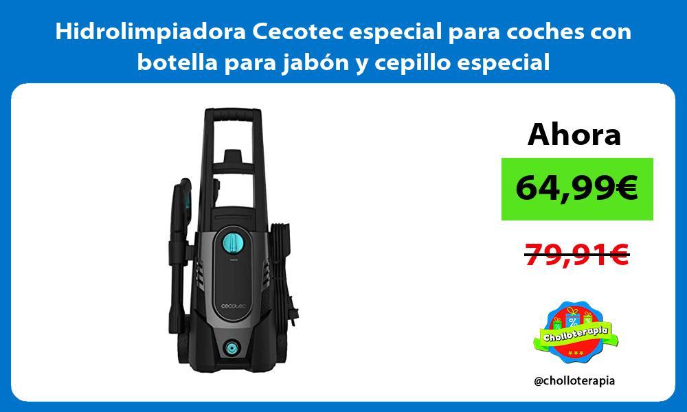 Hidrolimpiadora Cecotec especial para coches con botella para jabón y cepillo especial