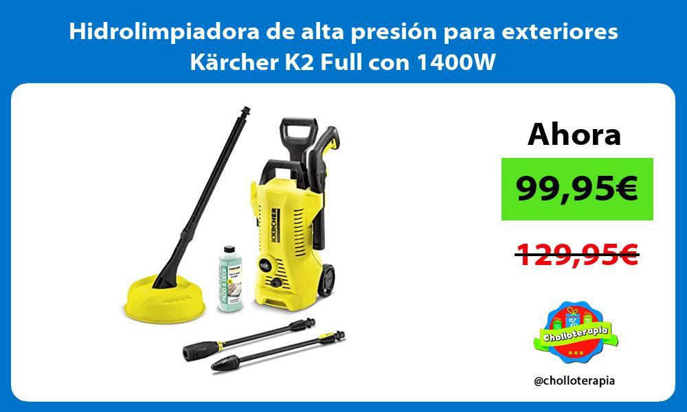 Hidrolimpiadora de alta presión para exteriores Kärcher K2 Full con 1400W