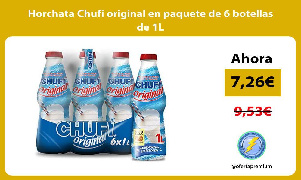 Horchata Chufi original en paquete de 6 botellas de 1L