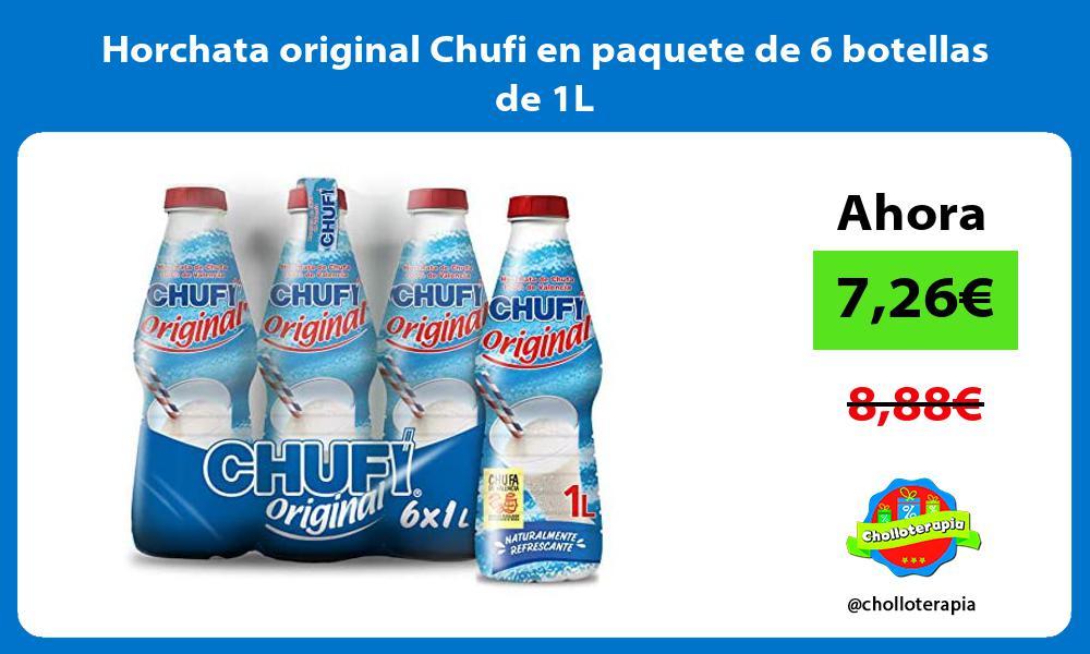 Horchata original Chufi en paquete de 6 botellas de 1L