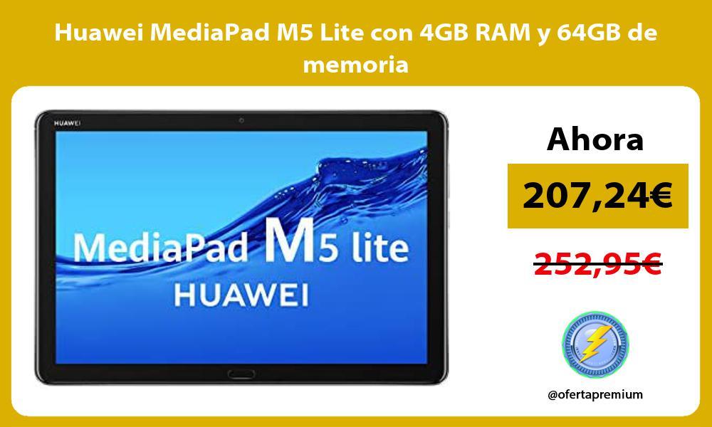 Huawei MediaPad M5 Lite con 4GB RAM y 64GB de memoria