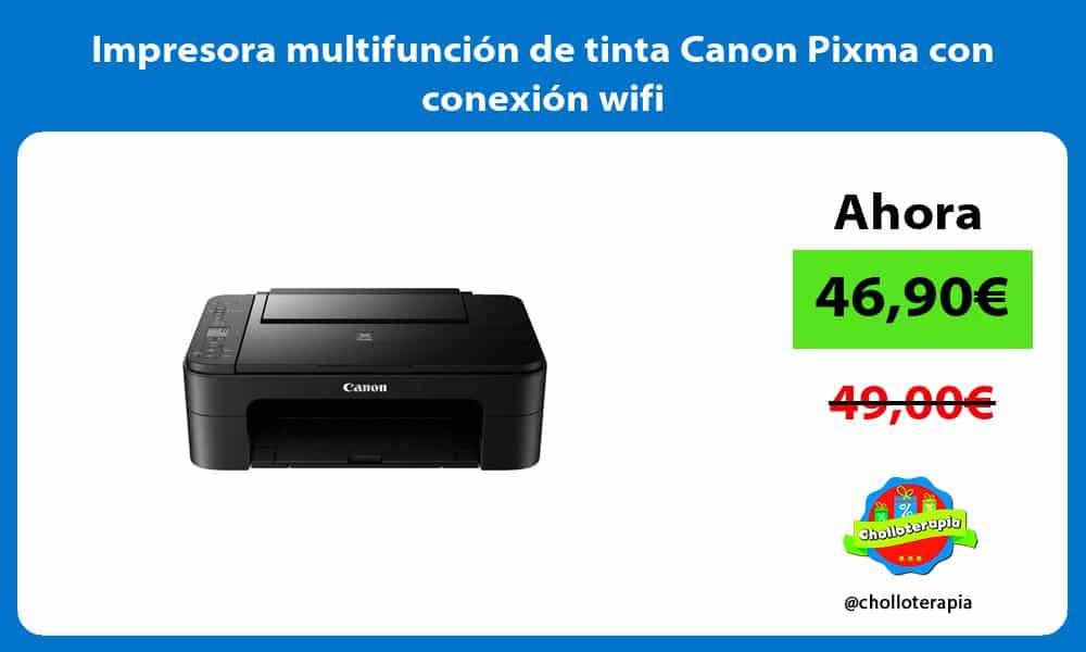 Impresora multifunción de tinta Canon Pixma con conexión wifi