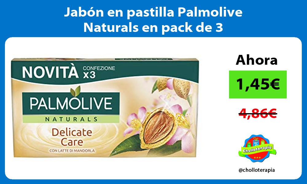 Jabón en pastilla Palmolive Naturals en pack de 3