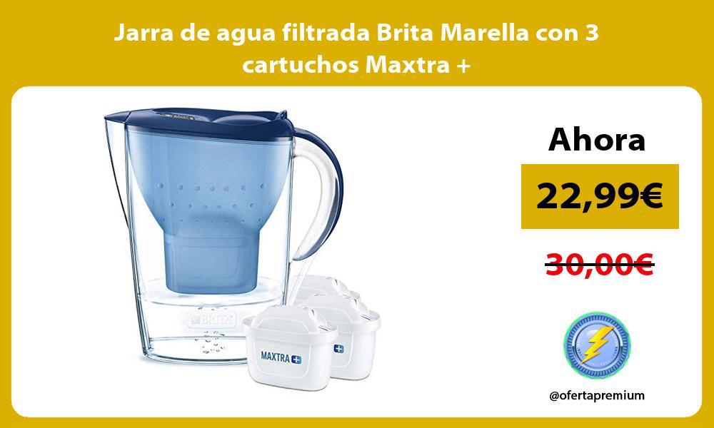 Jarra de agua filtrada Brita Marella con 3 cartuchos Maxtra