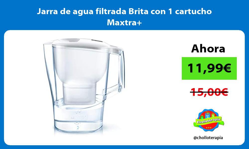 Jarra de agua filtrada Brita con 1 cartucho Maxtra