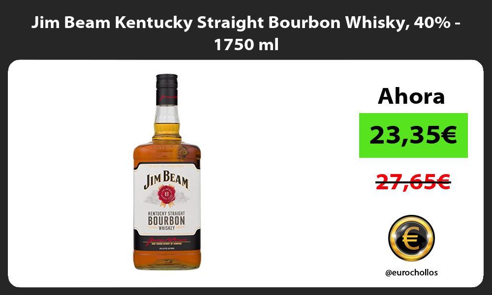 Jim Beam Kentucky Straight Bourbon Whisky 40 1750 ml
