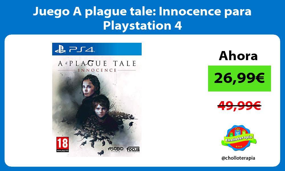 Juego A plague tale Innocence para Playstation 4
