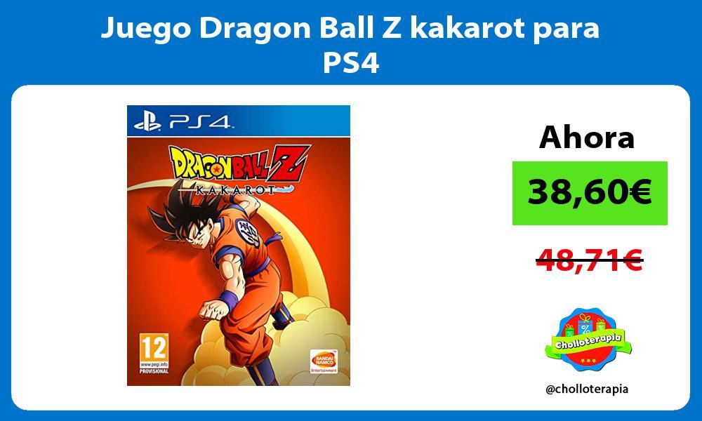 Juego Dragon Ball Z kakarot para PS4