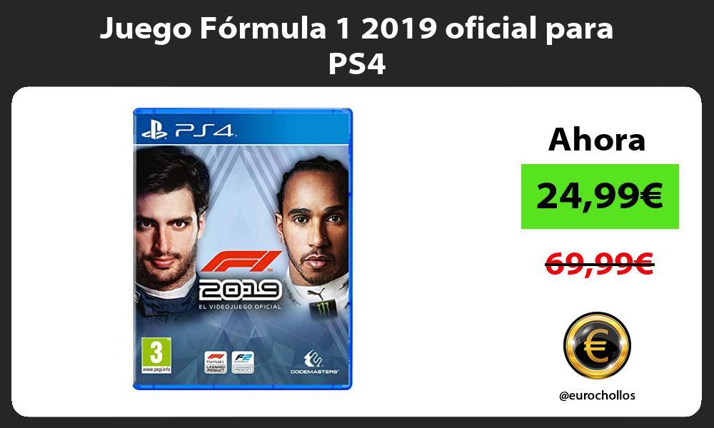 Juego Fórmula 1 2019 oficial para PS4