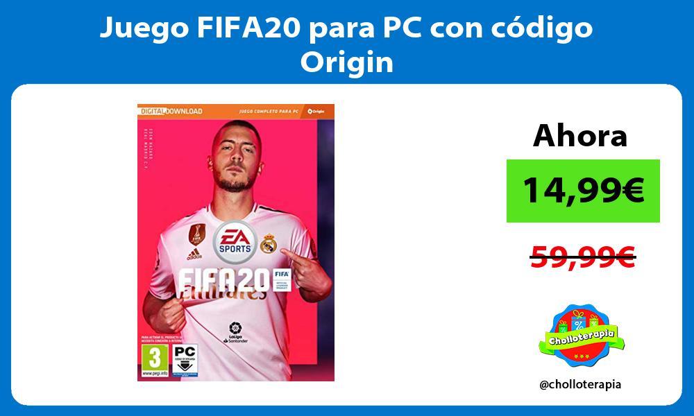 Juego FIFA20 para PC con código Origin