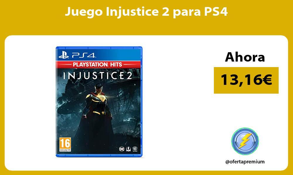Juego Injustice 2 para PS4
