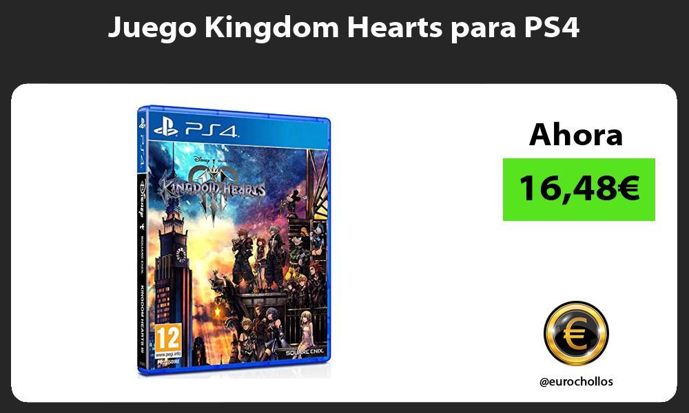 Juego Kingdom Hearts para PS4