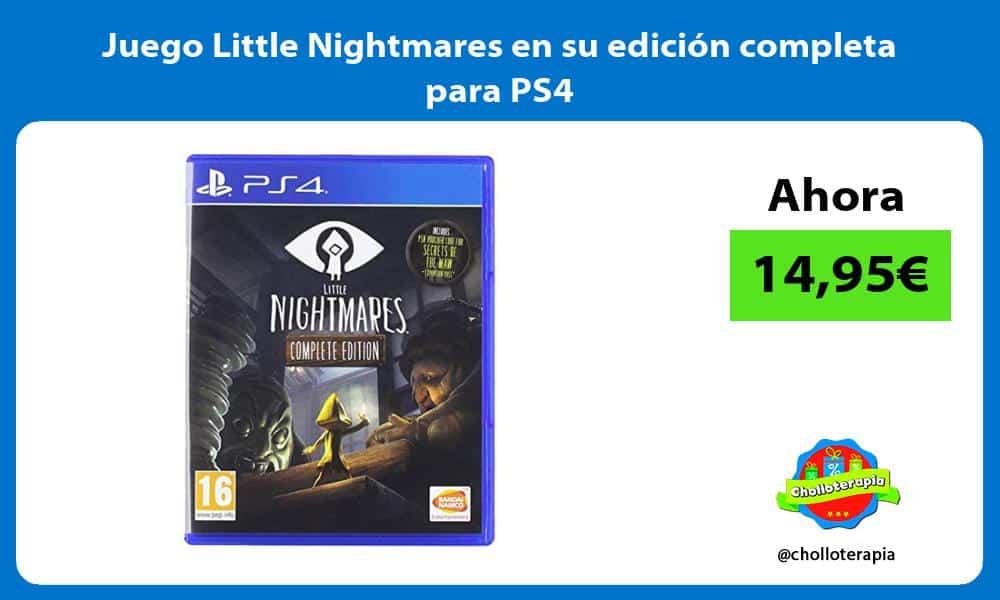Juego Little Nightmares en su edición completa para PS4