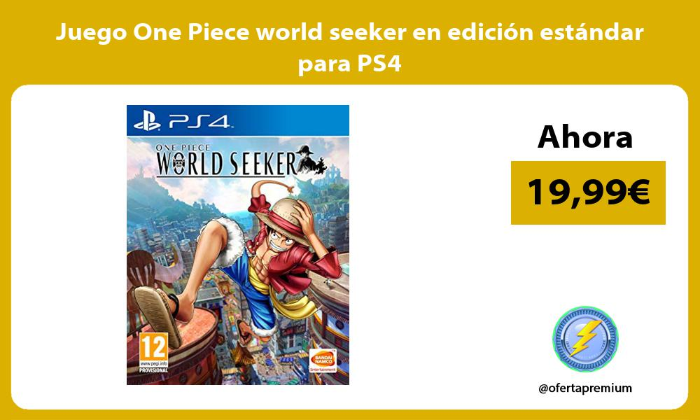 Juego One Piece world seeker en edición estándar para PS4