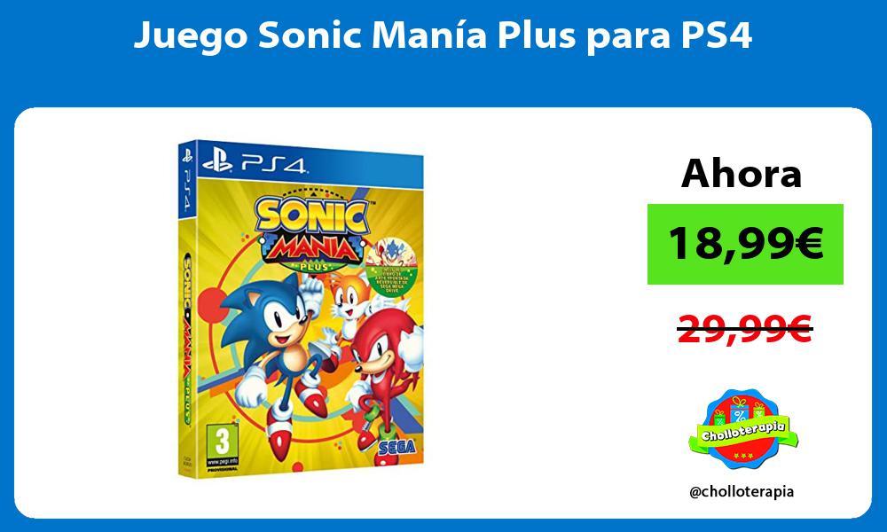 Juego Sonic Manía Plus para PS4